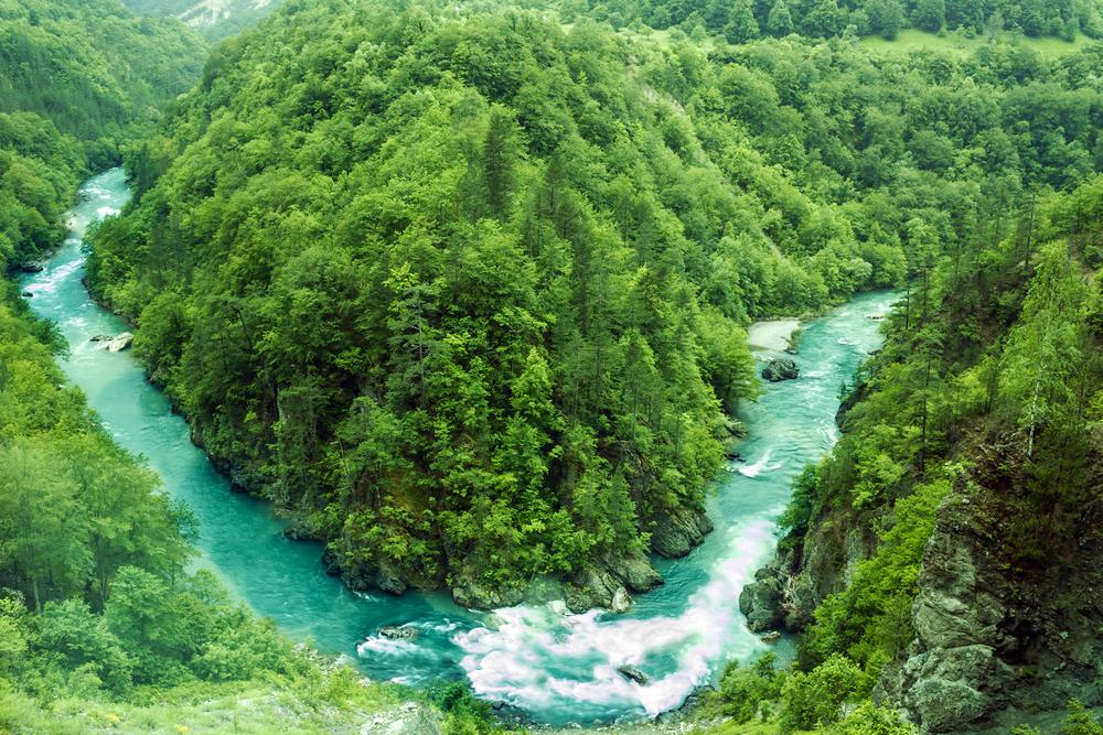 Czarnogóra, Widok na rzekę Tara