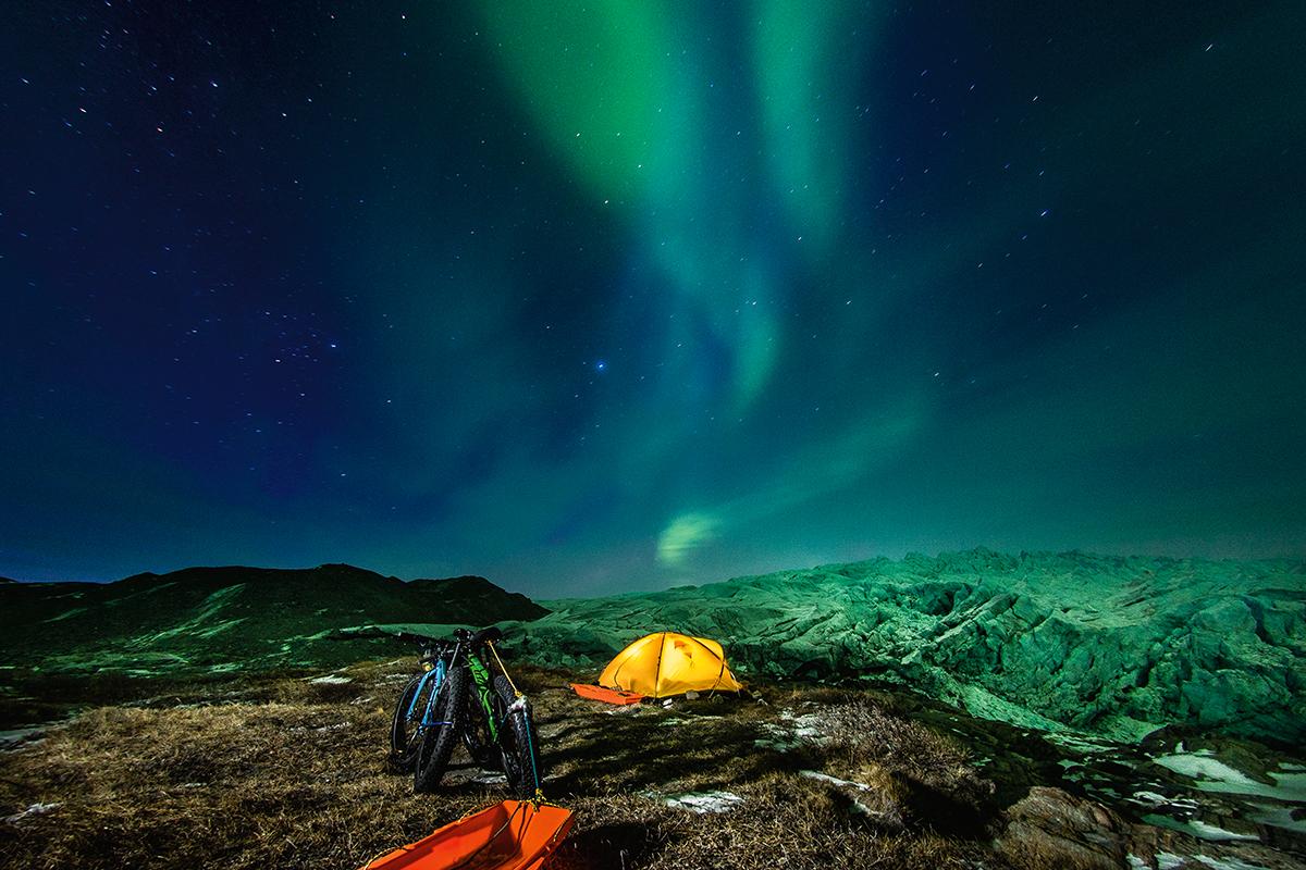 Zorza polarna na Grenlandii